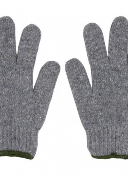 ถุงมือผ้าสีเทา