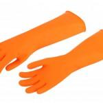 ถุงมือยางยาวถึงข้อศอกอย่างหนา2