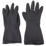 ถุงมือยางรุ่นบางสีดำตราอีเกิลวัน 1